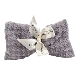 Spa at Home Gift Box – Lavender Eye Pillow in Silver Houndstooth